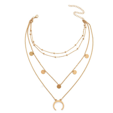 SUN MULTI LAYER NECKLACE (GOLD)