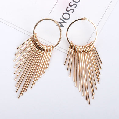 BAR EARRINGS GOLD