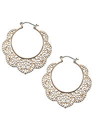 FILIGREE HOOP  (GOLD)