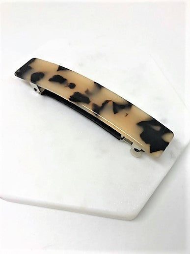 BARRETTE CLIP (LEOPARD BLACK /TAN)
