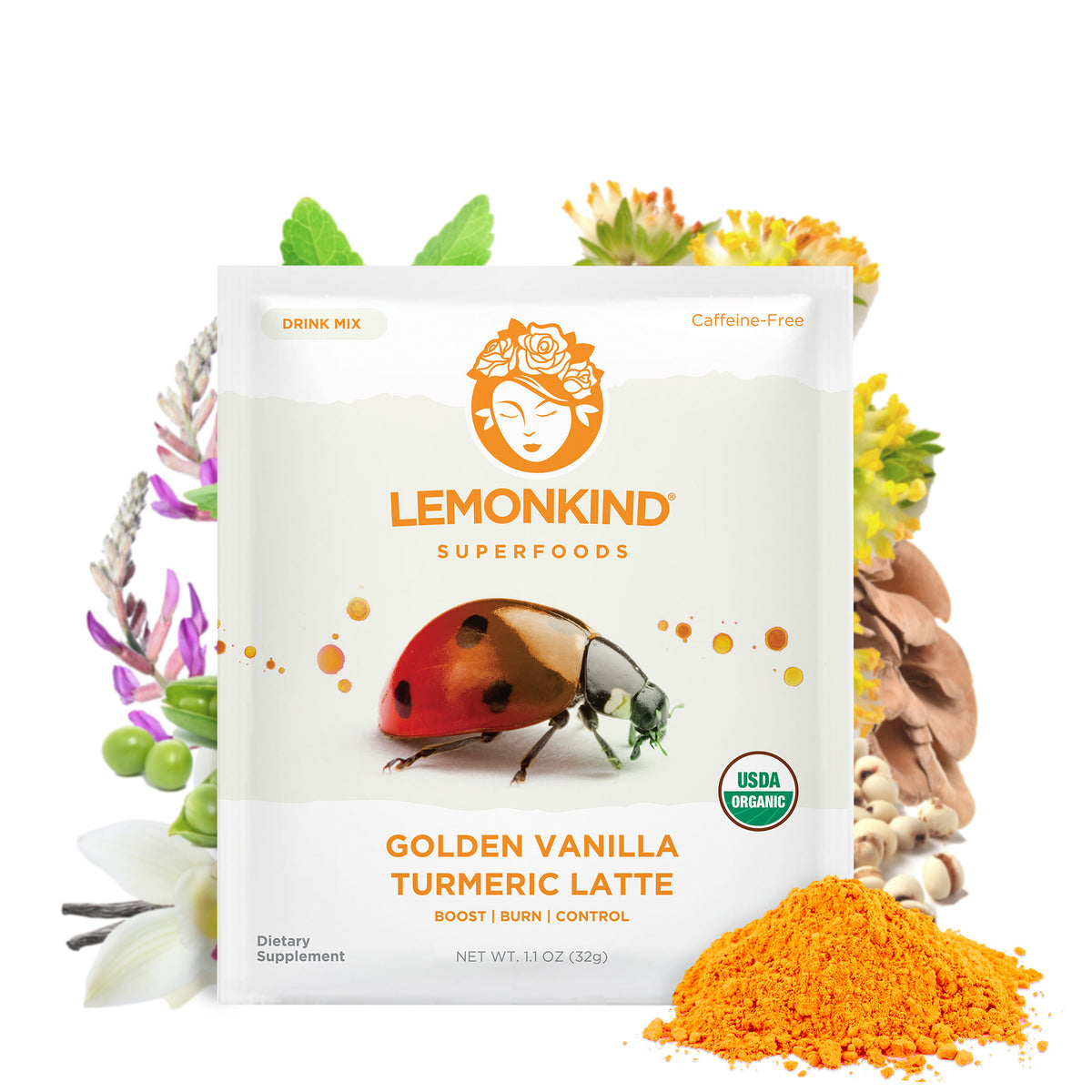 FAT-BURN Golden Vanilla with Turmeric & Milk Thistle - Liver Detox & Stress Relief (10 Lattes)