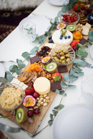 One of the stunning cheese platters at Jos events