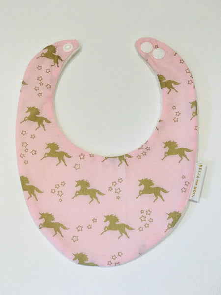Unicorn Pink Metallic Bib