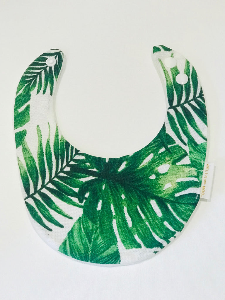 PANAMA Monstera Leaf Bambino Bib