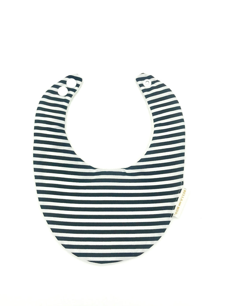 Black & White Stripe Bib