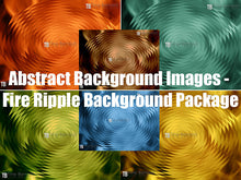 Abstract Fire Ripple Background Image Package