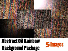 Grunge Abstract Oil Rainbow Background Package