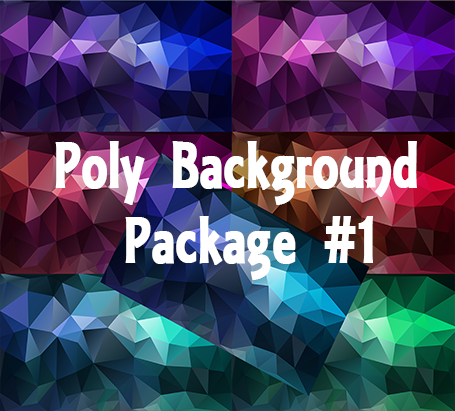 Poly Web Backgrounds Package #1