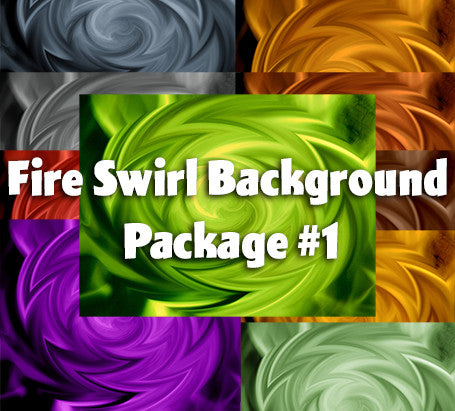Abstract Fire Swirl Background Package #1
