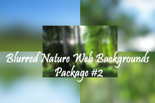 Blurred Nature Web Backgrounds Package #2