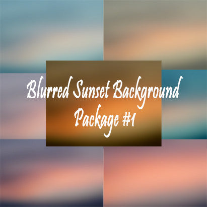 Blurred Sunset Background Nature Background Package #1