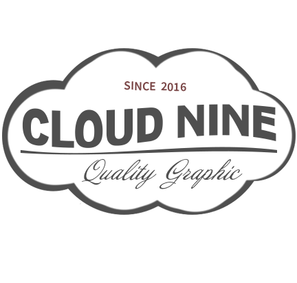 Cloud 9 Retro Logo PSD Template
