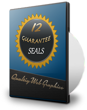12 Guarantee Seals Badges PSD Templates