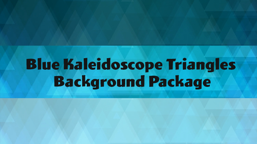Blue Kaleidoscope Triangles Background Package
