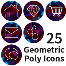 Poly Geometric Round Minimal Icon Set #1