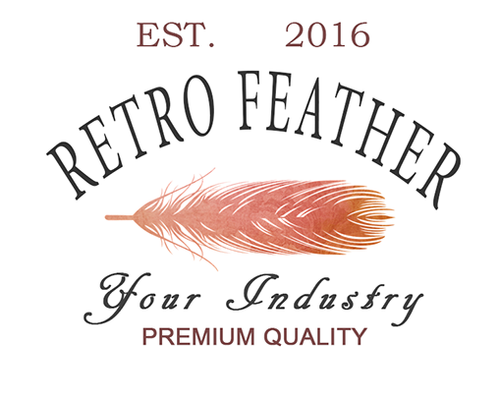 Retro Feather PSD Logo Template