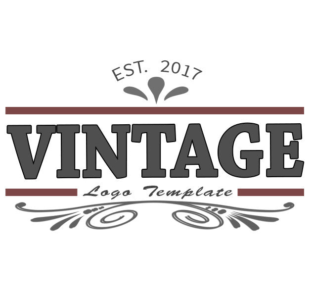 Vintage Logo 1 Psd Branding Video Title Template Video Graphics Edge