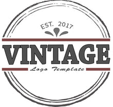 Vintage Round Logo PSD Template