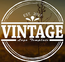 Vintage Round PSD Video Title Template