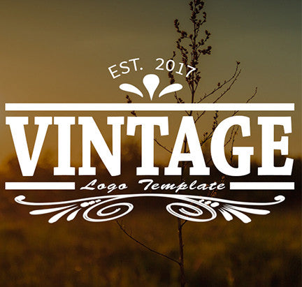 Vintage Logo #1 PSD Branding Video Title Template