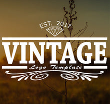 Vintage PSD Video Title Template
