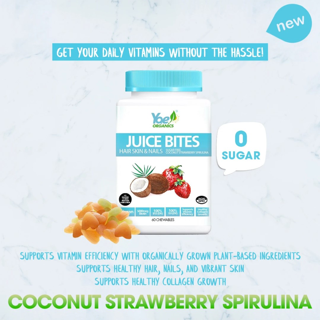 JUICE BITES-Coconut  Strawberry Spirulina