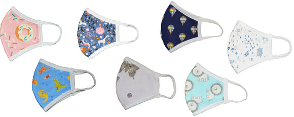 Printed Kids Reusable Face Mask