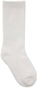 CLASSROOM UNISEX ATHLETIC CREW SOCKS 3 PK in WHITE