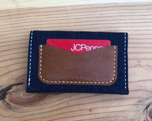 Load image into Gallery viewer, Denim Money Pouch/Cardholder