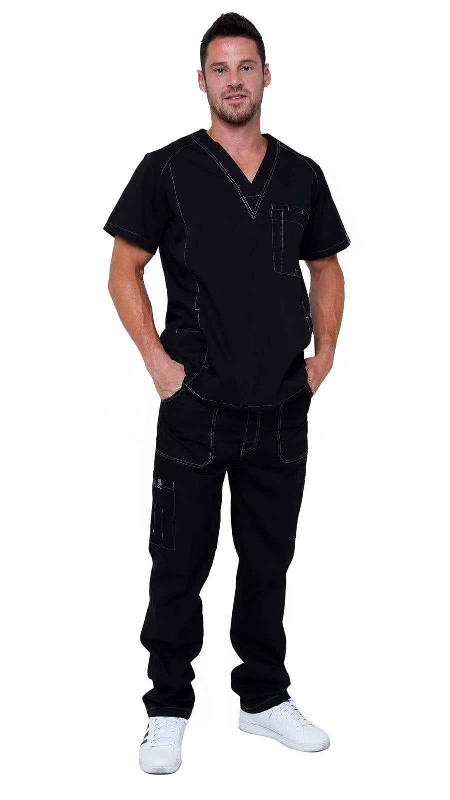 Men's Multi Pocket Utility Medical Scrubs - Dress A Med