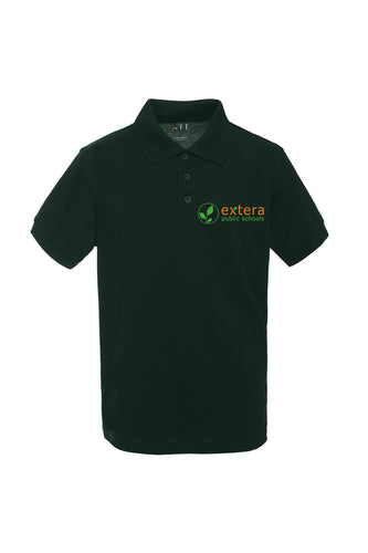 Extera Schools - Hunter Green Polo with Logo