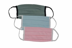 Pleated Reusable Face Mask Adult