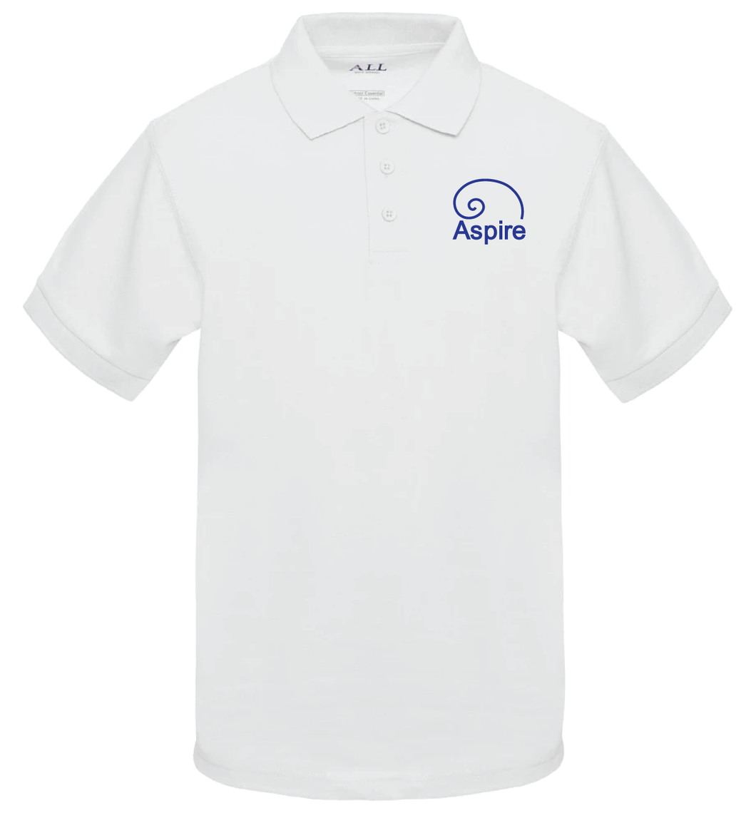 Aspire Academy Polo - WHITE