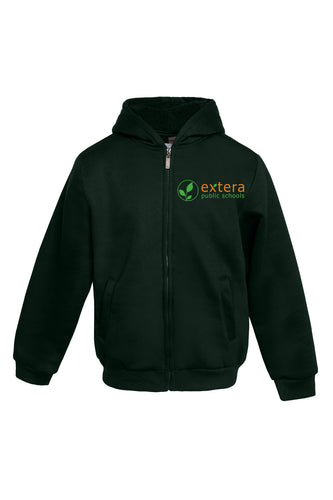 Extera Schools - Zipper Hooded Sweater with Logo