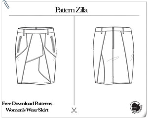 Free Download Patterns Women's Wear Skirt