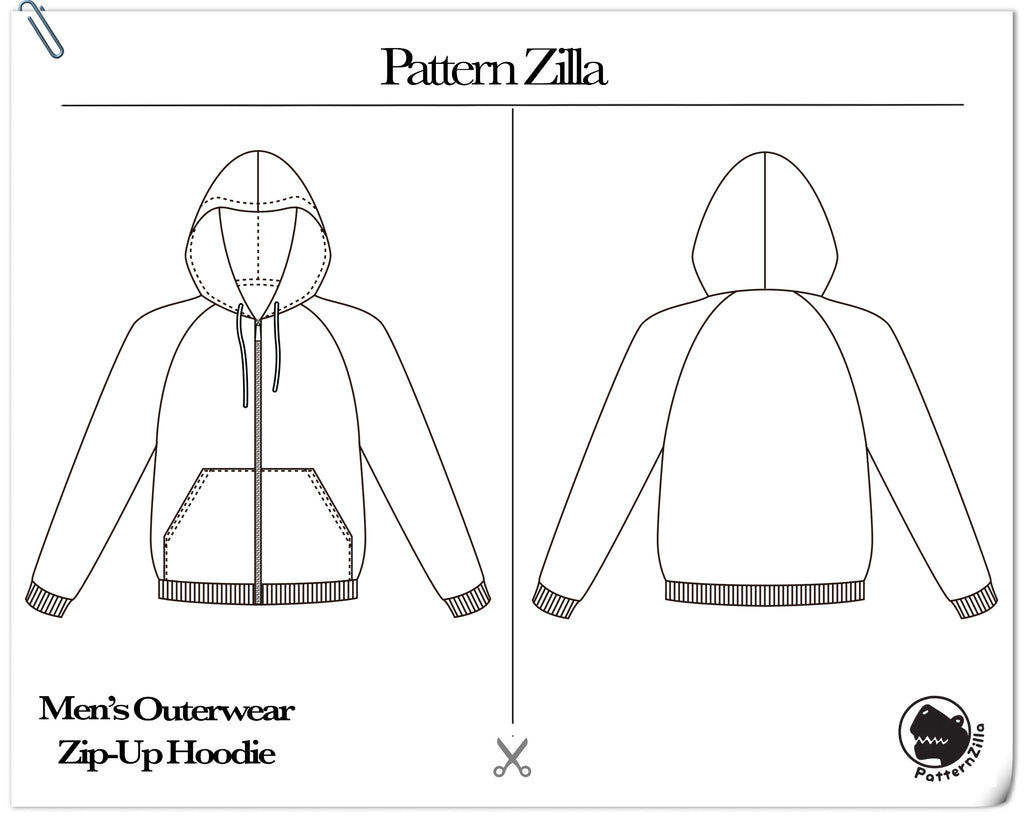 Men's Outerwear Zip-Up Hoodie