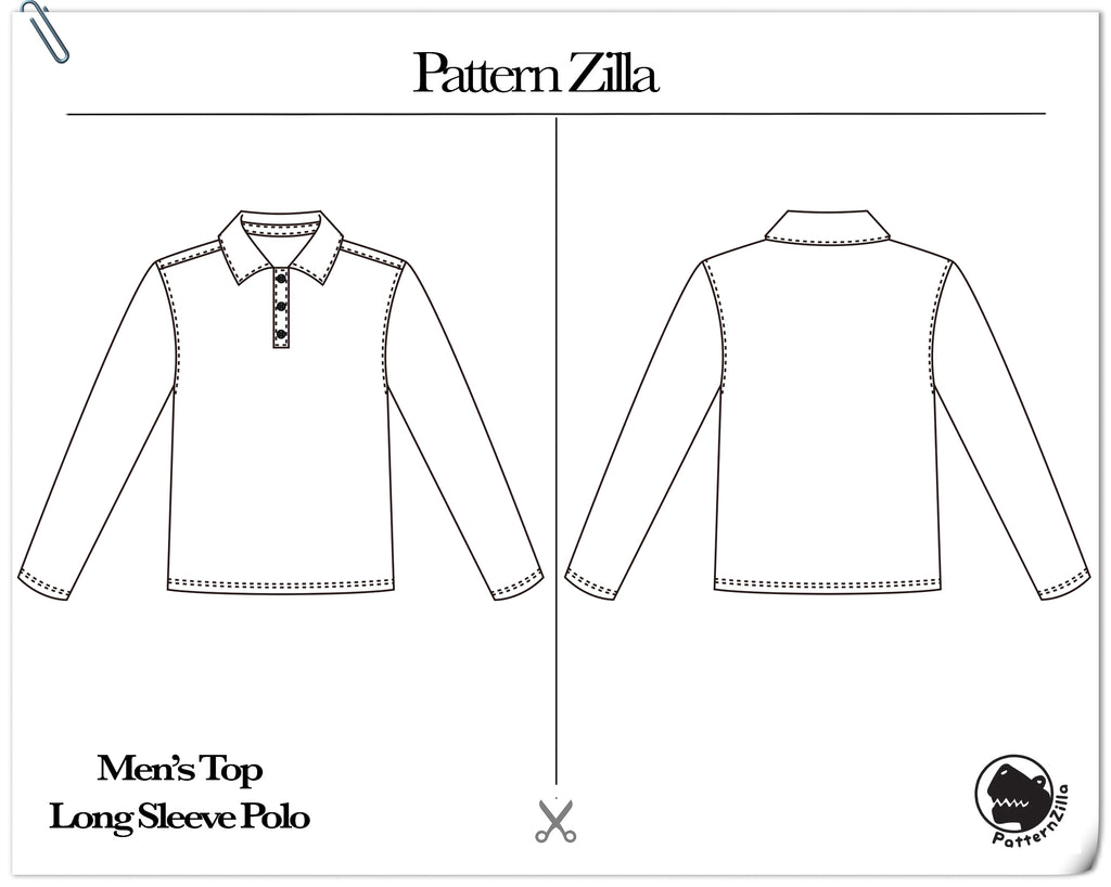 Men's Top Long Sleeve Polo