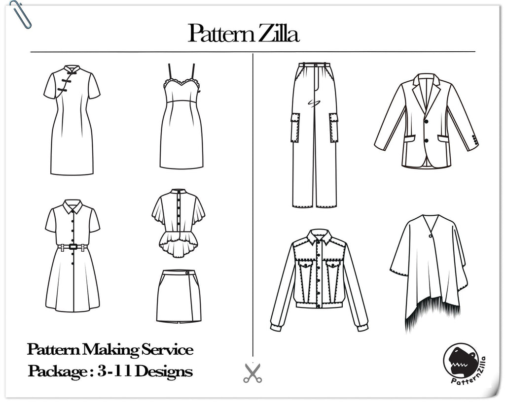 Pattern Making Service Package: 3-11 Designs
