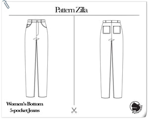 Women's Bottom 5-pocket Jeans