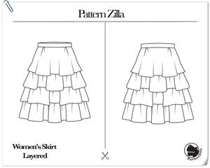 Women's Skirt Layered