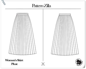 Women's Skirt Pleat Skirt
