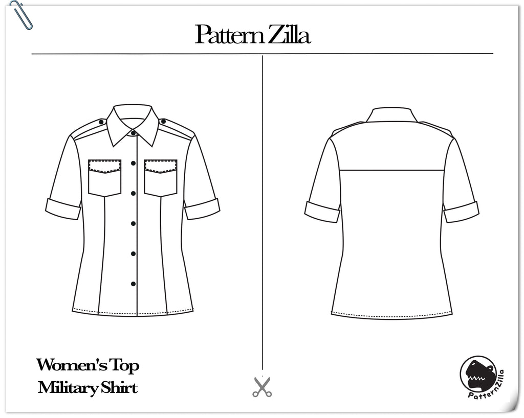 Women's Top Military Shirt
