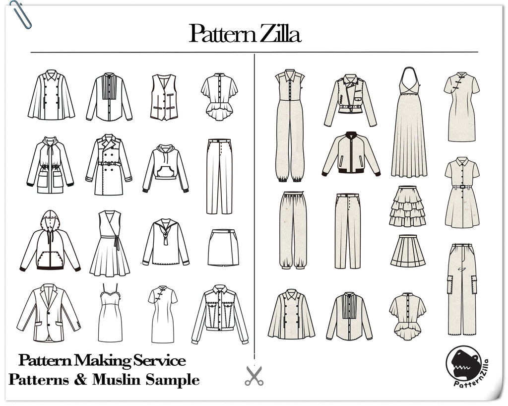 Pattern Making with Muslin Samples