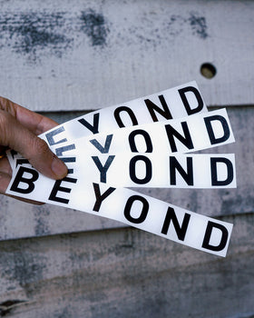 Beyond Black Reflective Logo Sticker
