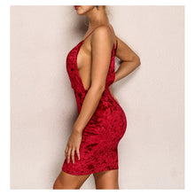 Dress - Burgundy Sleeveless Bodycon Sexy Velvet Party Dress - MBM Unlimited