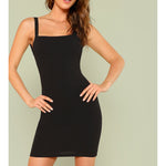 Black Backless Fitted Party Mini Dress