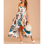 Off White Tropical Print Button Down Maxi Dress