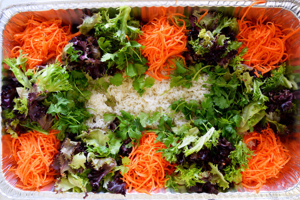 White Rice Tray