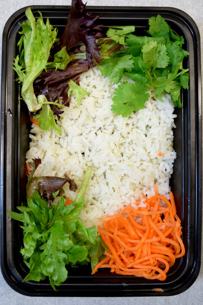 White Rice Bento Box