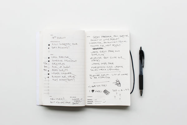 Using journaling to improve the work productivity.